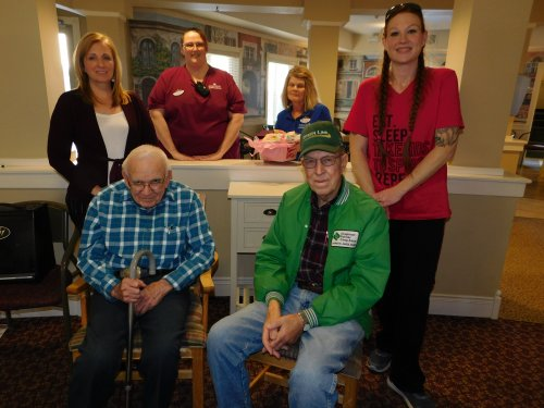Primrose January Birthday Honorees.  What fun to celebrate with Residents and Staff!