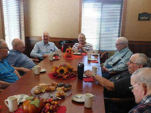 Men's Coffee is always well attended and a great time of fellowship!