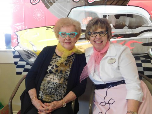 Darlene and Carrie are lookin' cool at the 50's Party.
