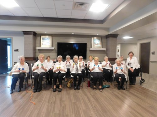 The Grand Island Primrose Bell Choir does their last traveling performance of the Summer.  Don't they look sharp!