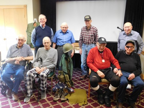 A special monthly Veterans' gathering!  We are so proud of these guys!