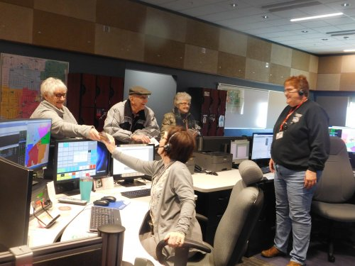 Karen, Bert, and Jean share an kindness w/ the 911 Call Center.  I think they made their day!