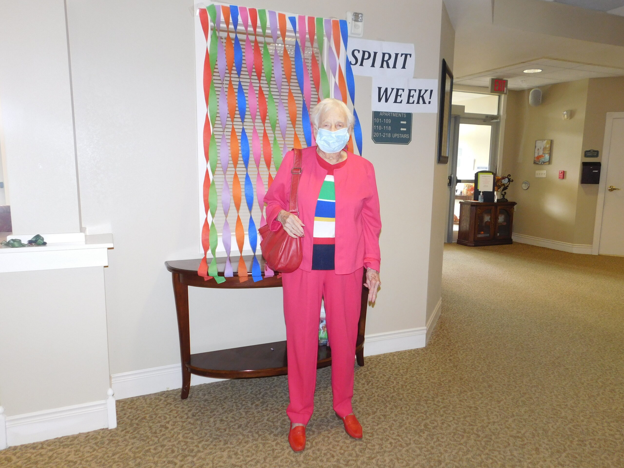 Gloria wins for the Independent Residents with her favorite color outfit during