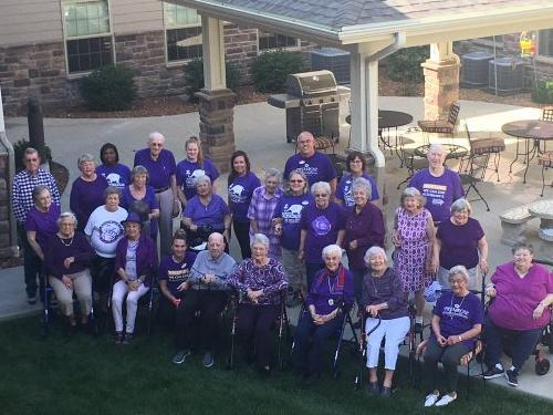 In JC, Oct. 1 has been declared Alzheimer's Awareness Day.  We are all in purple to show our support.