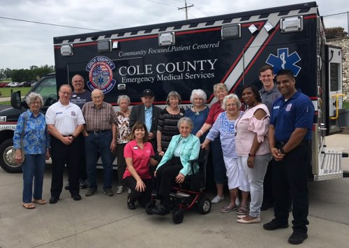 Primrose staff and residents visited the Cole County EMS station to thank them for their hard work in the Jefferson City community.