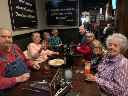 Residents and staff enjoyed dinner out at Big Whiskey!