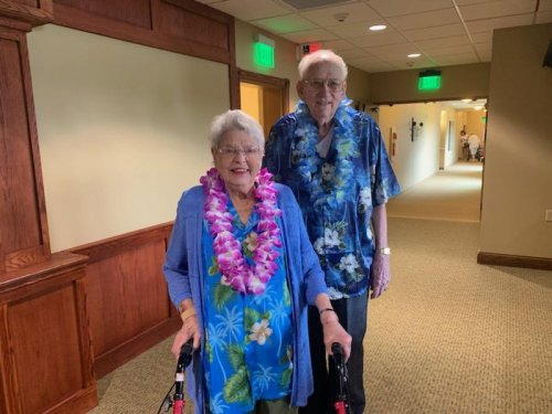 Roddy and Trudy are dressed to impress at the Luau!!!