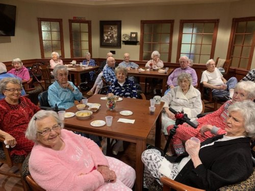 Residents are having a blast at our pajama party!
