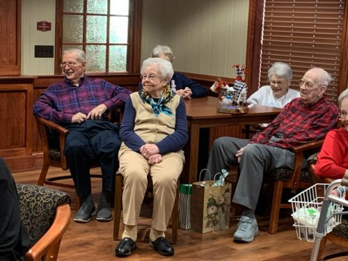 Residents enjoying our holiday party.
