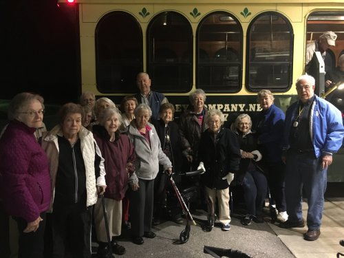 Residents are enjoyed a Christmas light tour on the Jefferson City trolley.