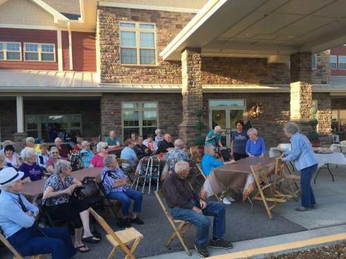 Residents enjoying our 3rd anniversary block party