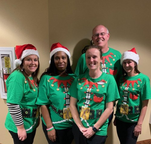 Our leadership team is very cheerful this time of year!!