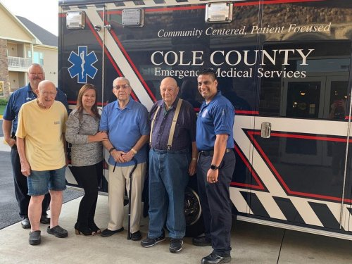 Our local EMS staff came out for an appreciation breakfast and invited a few of our residents and staff to tour the new ambulance.