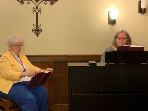 Assistant LEC and Shirley spending some one on one time together at the piano