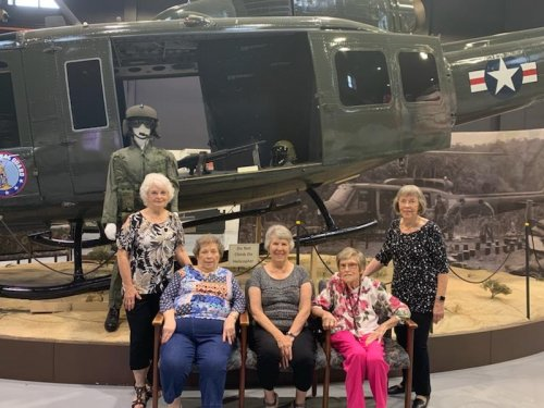 The ladies enjoyed their mystery trip to the Ike Skelton Military Museum.