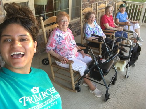 Sharon took a selfie of her and residents at the 3rd anniversary block party
