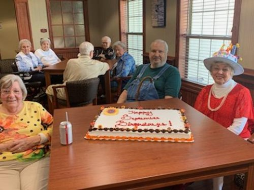 Residents celebrate at our September birthday party!