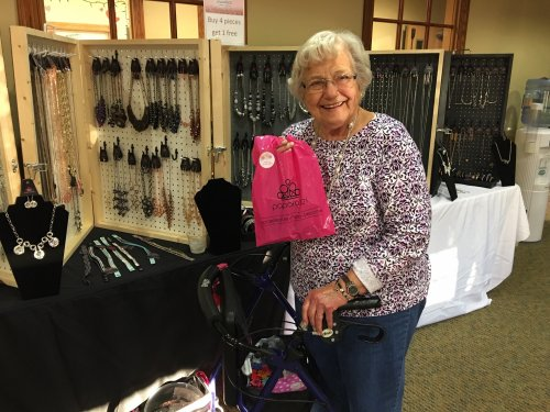 Cyrilla was thrilled to purchase jewelry at our fall festival
