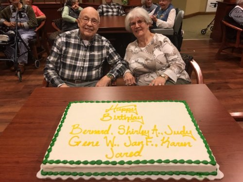 Bernard and Shirley are celebrating their March birthdays!