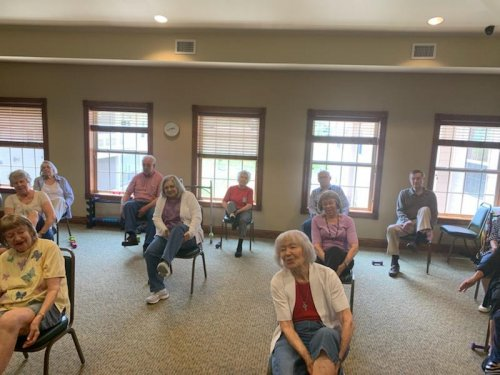 Staying fit is important to our residents!