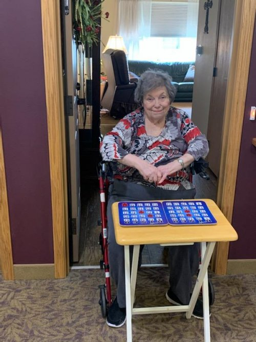 Sue's favorite time of the day....Bingo time!