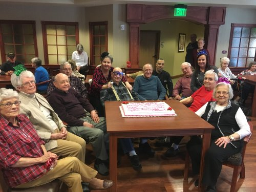 Staff and residents are enjoying the February birthday party