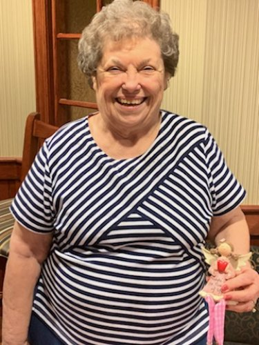 Sue was proud to show her friendship doll at our very first show and tell activity!