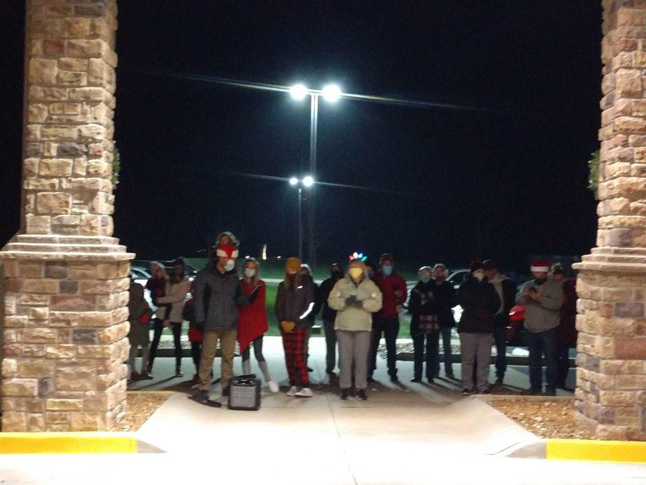 Christian Church Caroling our Residents