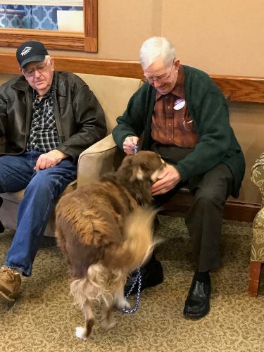 Pet Therapy-Rusty came to visit today