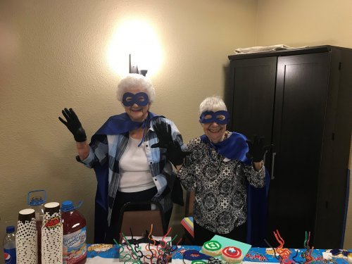 Dorothy and Maria are amazing ladies who help with the kick off of assisted living week and Grandparents who are also the superhero's in our lives!