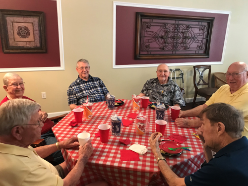 The Primrose Father's Day Lunch. Great Burgers and Dogs!