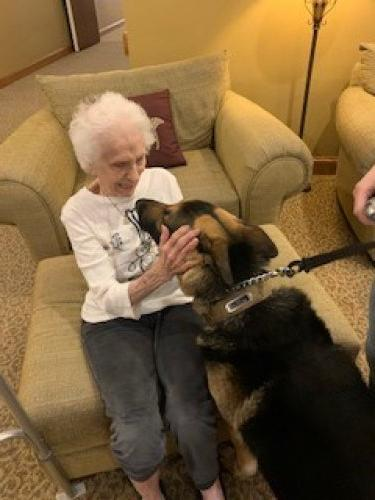 Max took a real liking to Ms. Ann!