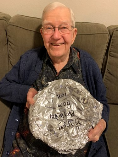 When you're 97 years young you get not one but two Cherry Pies!