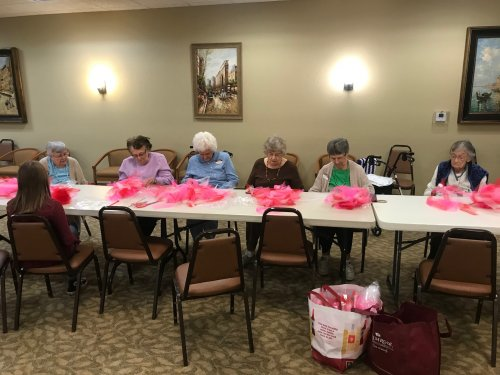 We kicked off the Heart Health month with a heart craft