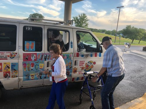 Everyone enjoyed the ice cream truck before the fireworks!