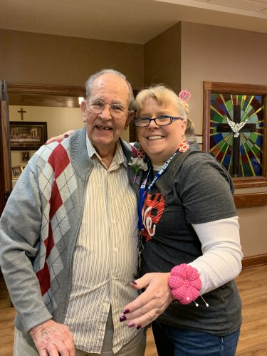 Every resident received a flower for Valentine's Day!