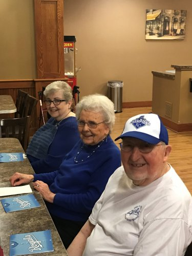 Jim and friends are ready for the Royals baseball home opener today!
