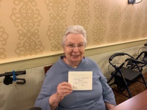 Sara was a $10 winner! Our ladies from Chicks W/ Stix's gave back $170 to our residents!