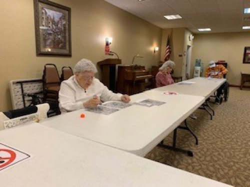 Bingo still goes on! Just 6 ft apart.  Can't stop the fun!