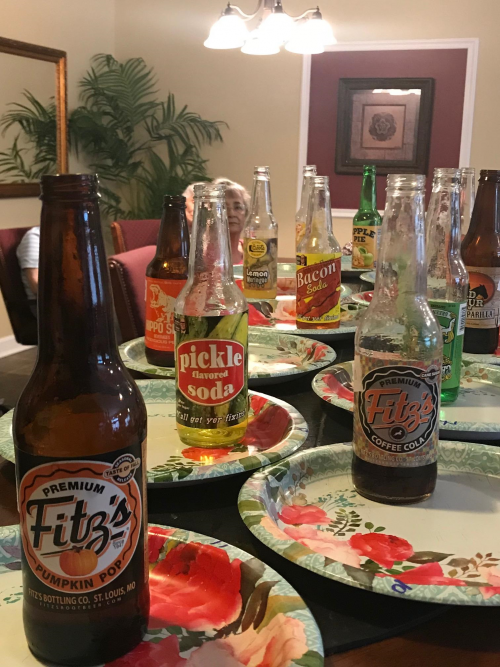 We made a stop at the KC soda Company and picked up some odd soda flavors.  We enjoyed the crazy combos!