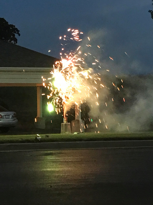 Beautiful fireworks enjoyed by all of the residents!