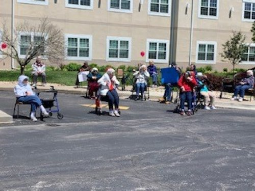 Waiting on the Mother's Day parade we have 47 cars! It was a great way to celebrate our beautiful mothers