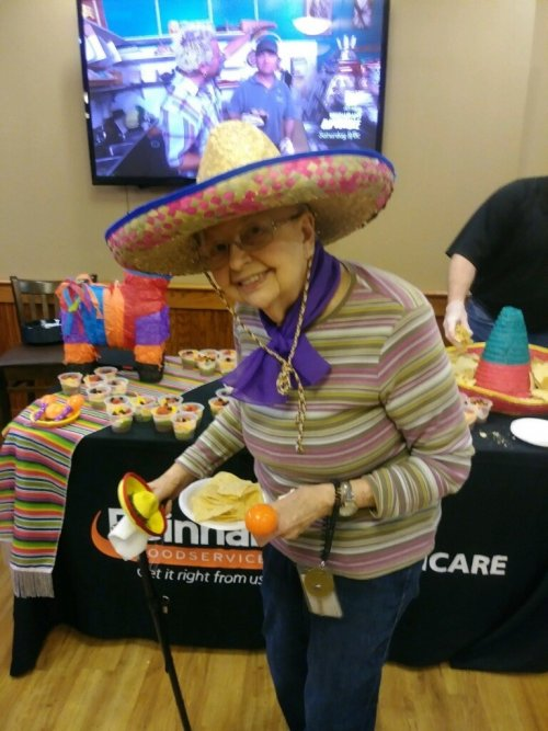 May 5th was fun for Dorothy taking part in the Cinco De Mayo Party!