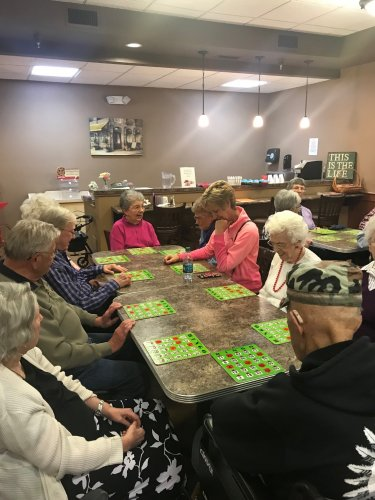 All of the residents who attended Turkey Bingo loved the Thanksgiving themed gifts