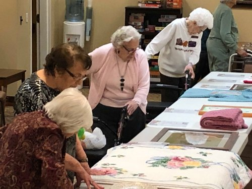We held a show  & tell/arts & crafts show.  We have some many talented residents.