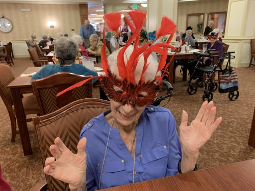 Ann enjoyed her masquerade mask! Her spunk and personality really pulled the look together!