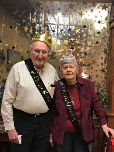 Our 2018 Prom King and Queen Carole and Jim T.