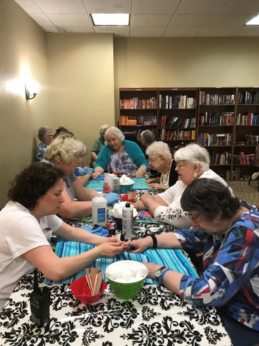 Manicures for ALL! Our ladies enjoyed being pampered.