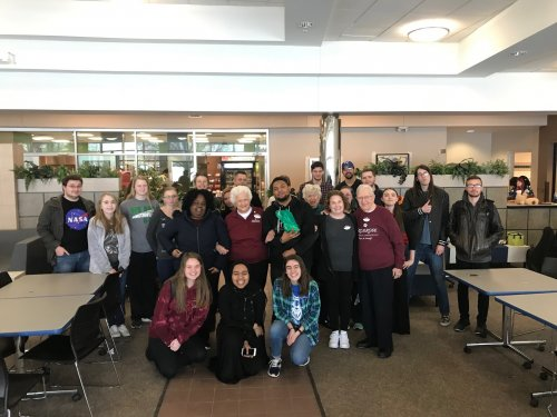 the whole group at Maple Woods Community College-Random Acts Of Kindness