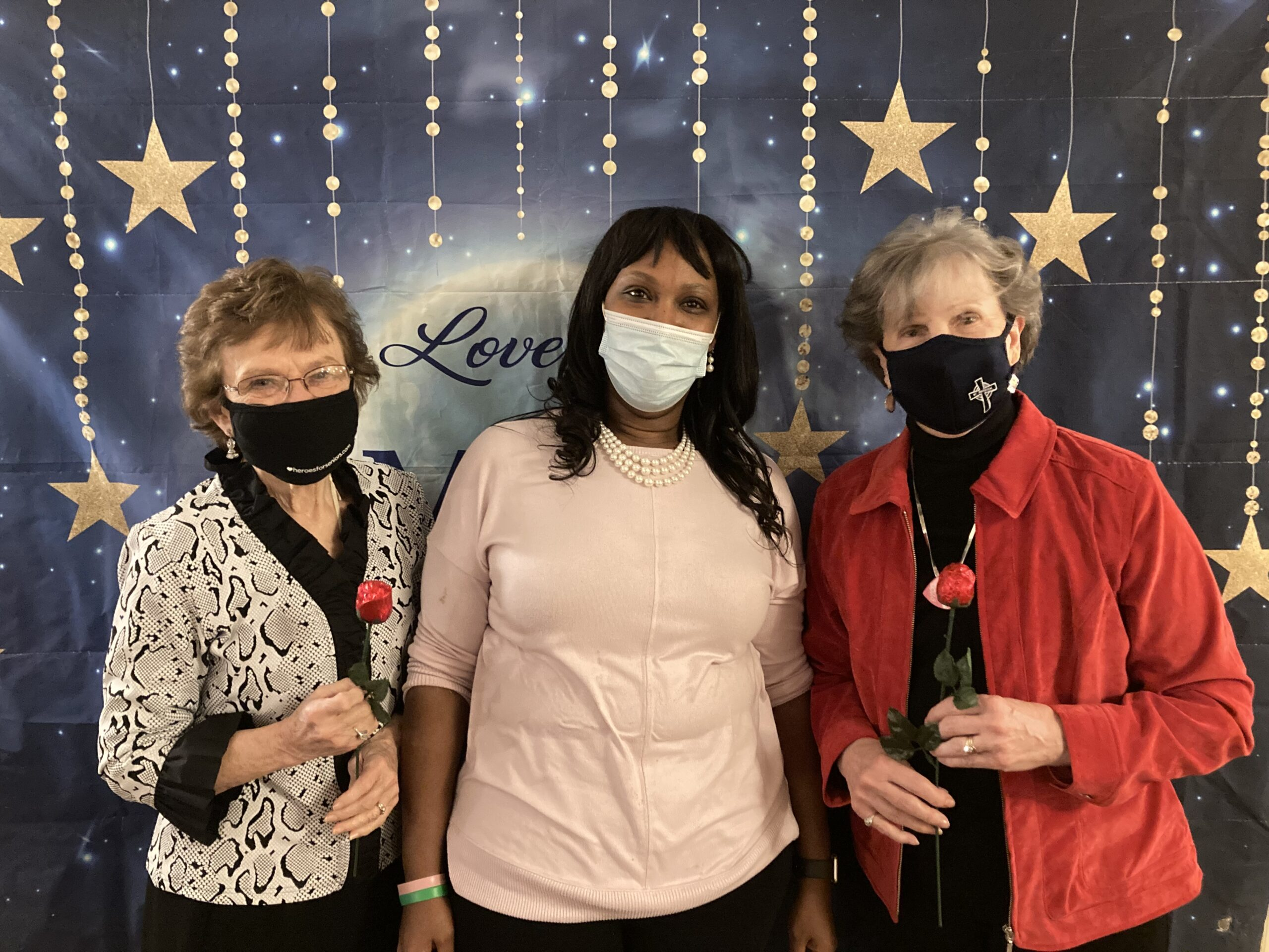 Residents with our ED; Dawn, celebrating Valentine's Day!